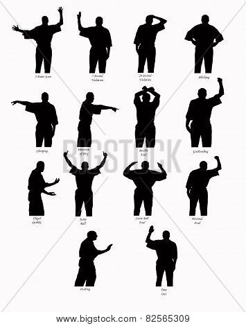 Basketball Call Silhouettes