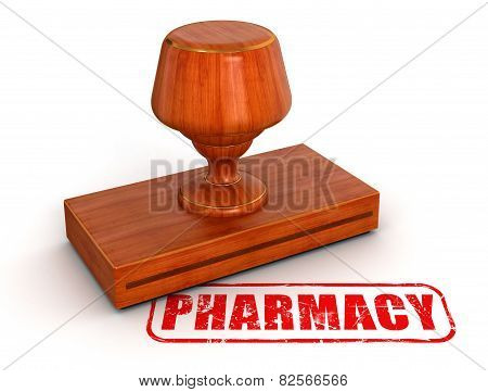 Rubber Stamp pharmacy  (clipping path included)