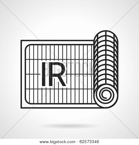 Radiant underfloor heating vector icon