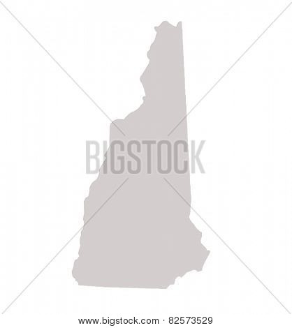 New Hampshire State map isolated on a white background, USA.