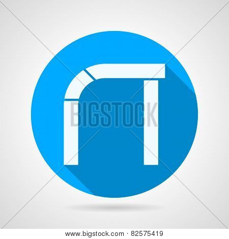 Round vector icon for curved arch