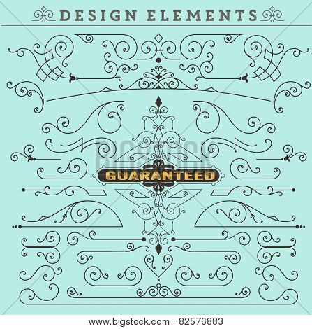 Vector. Vintage Ornaments Decorations Design Elements.  Vector stock