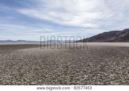 Zzyzx dry lake in the Mojave desert near Baker, California.