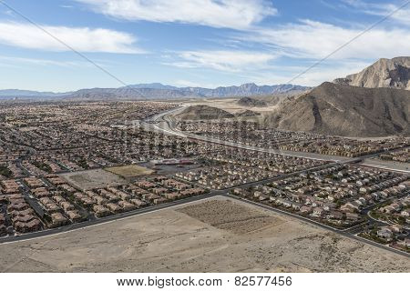 Suburban desert sprawl in the Las Vegas suburb of Summerlin.