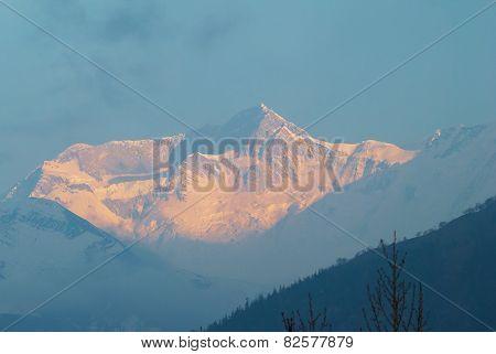 Sunrise At The Mountain, Nepal