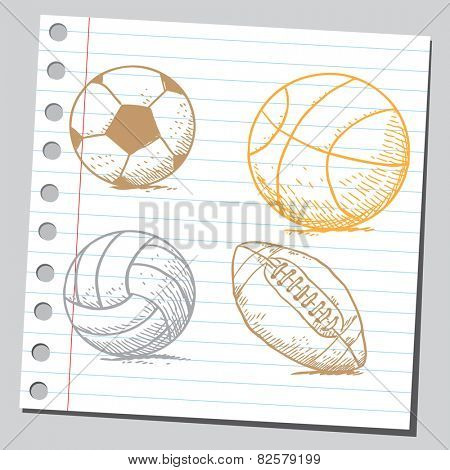 Sport balls (basket ball, volley ball and soccer ball)