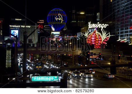 Night View Of Las Vegas