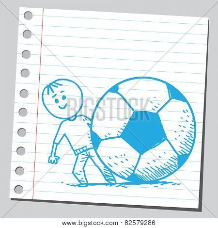 Kid and soccer ball