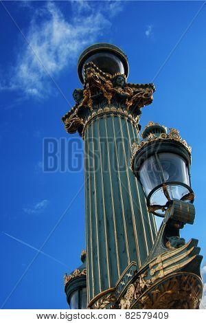 Gold lamppost