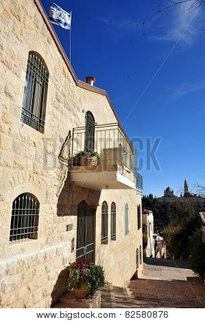 Yemin Moshe neighborhood in Jerusalem Israel