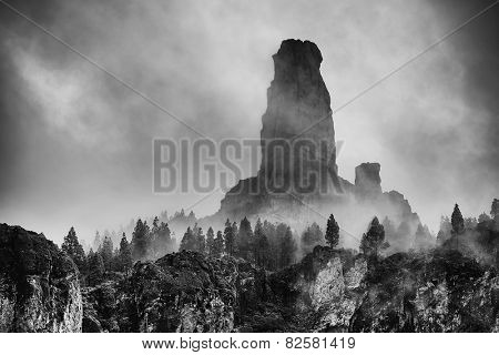 Roque Nublo, natural monument of Gran canaria, Canary islands, Spain