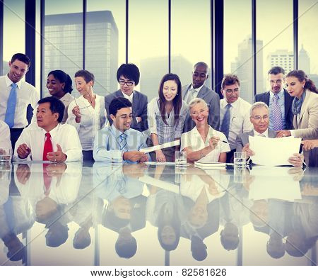 Business People Meeting Conversation Communication Interaction Concept