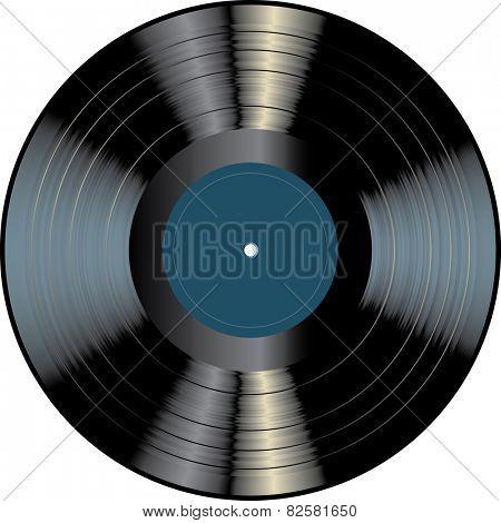 blank vinyl record
