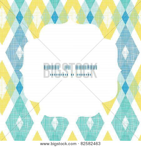 Vector colorful fabric ikat diamond circle frame seamless pattern background