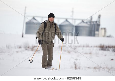 Enjoying Cross-country Skiing
