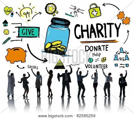 Business People Celebration Give Help Donate Charity Concept