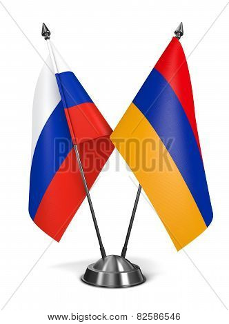 Russia and Armenia - Miniature Flags.