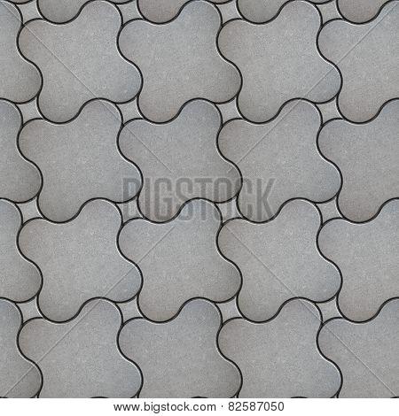 Gray Brick Pavers. Seamless Texture.