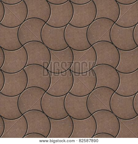 Brown Pavers. Seamless Tileable Texture.