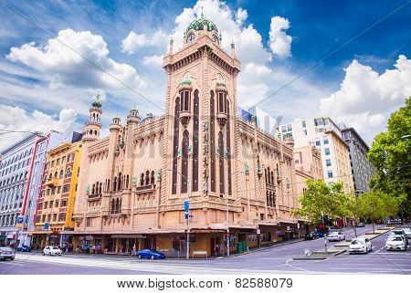 MELBOURNE, AUSTRALIA-JAN 15, 2015:Forum Theatre is landmark of Melbourne on Jan 15, 2015, with Moorish Revival style exterior, Australia.