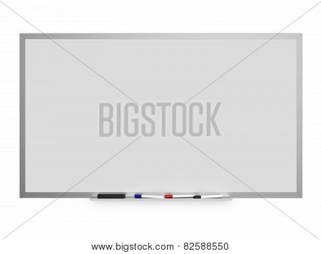 White Board Isolated On A White Background