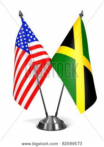 USA and Jamaica - Miniature Flags.