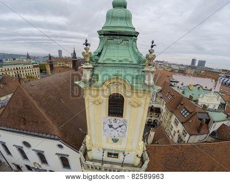 Wiew on Jesuit curch in Bratislava.