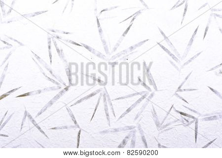 Bamboo Mulberry Paper With Flower Texture Background