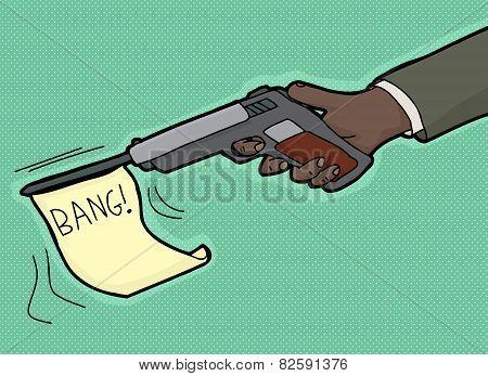 Bang From Gun