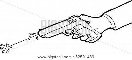 Squirt Gun Outline