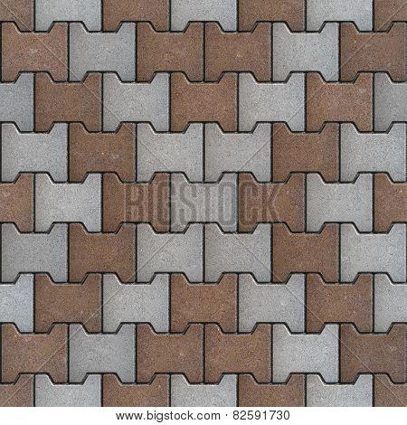 Grey and Brown Bricks. Seamless Texture.