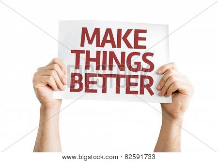 Make Things Better card isolated on white background