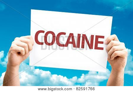 Cocaine card with sky background