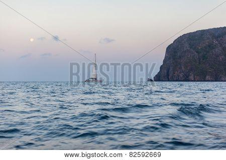 Thailand Cliff At Dawn