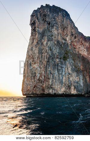 Cliff At Dawn