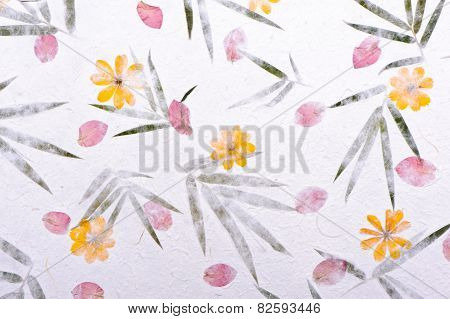 Flower Mulberry Paper Texture