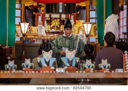 Japanese Priest in Osaka