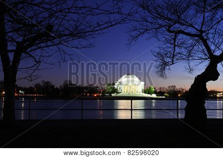 Washington DC - Thomas Jefferson Memorial night - United States of America