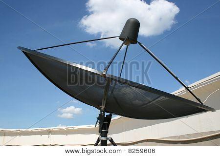 Sky television dish.