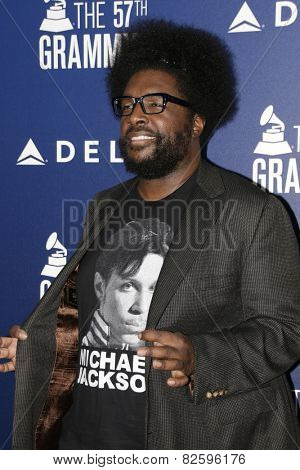 LOS ANGELES - FEB 5:  Questlove at the Delta Air Lines Toasts 2015 GRAMMYs at a SOHO House on February 5, 2015 in West Hollywood, CA