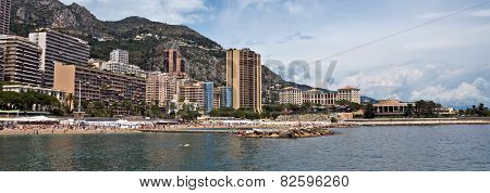 Monaco - Monte Carlo Buildings From The City Beach