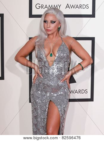 LOS ANGELES - FEB 8:  Lady Gaga at the 57th Annual GRAMMY Awards Arrivals at a Staples Center on February 8, 2015 in Los Angeles, CA
