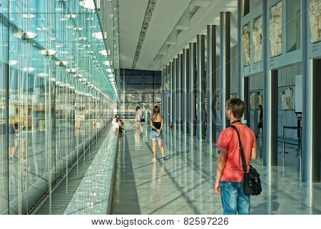Tourists In The Acropolis Museum