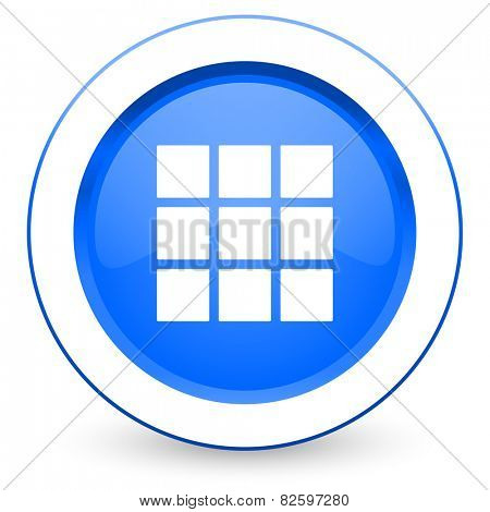 thumbnails grid icon gallery sign
