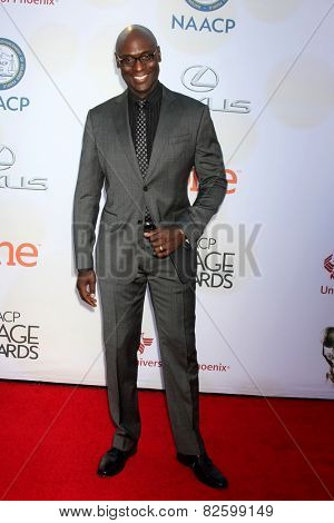 LOS ANGELES - FEB 6:  Lance Reddick at the 46th NAACP Image Awards Arrivals at a Pasadena Convention Center on February 6, 2015 in Pasadena, CA