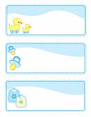 picture of baby duck  - Cute baby boy gift tags with baby related icons - JPG