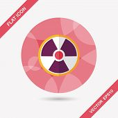 pic of nuke  - Radiation Flat Icon With Long Shadow - JPG