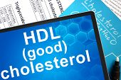 picture of lipids  - Documents with cholesterol formula and words HDL  - JPG