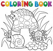 foto of toadstools  - Coloring book toadstool with animals  - JPG