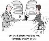 foto of wifes  - Cartoon of husband and wife at dinner and wife says - JPG